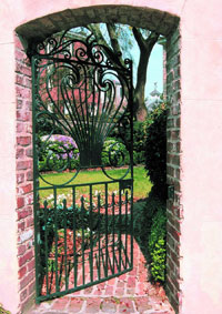 Gate leading into a Charleston Garden